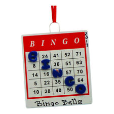 PERSONALIZED Bingo Card Game Board Christmas Tree Ornament 2019 Holiday Gift