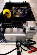 NEW COMPRESSOR 4WD TYRE REPAIR KIT + Case,HIGHFLOW AIR 150PSi, 12V 190L/Min 4X4