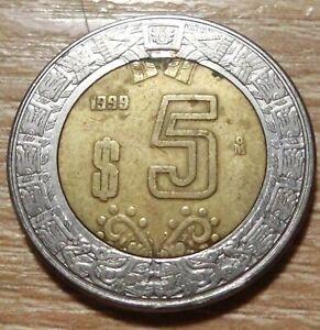Mexiko  5  Pesos  1999
