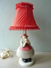 rare lampe avec Bécassine en céramique, la chaise longue, Robj, années 70