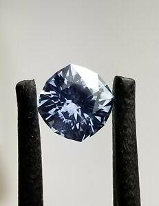 Montana sapphire: Eye clean, 1.04 ct cushion cut gemstone --blue sparkle--