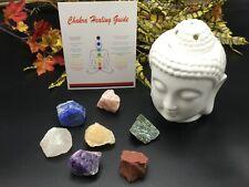 7 Chakra Stones Chunk Set With Healing Guide | Raw Chakra Healing Crystals