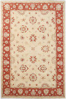 7X10 Hand-Knotted Oushak Carpet Traditional Ivory Fine Wool Area Rug D43514
