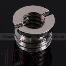 """10x 1/4""""-3/8"""" Adattatore Vite Dado per Flash Ombrello Stativo Camera Treppiedi"""