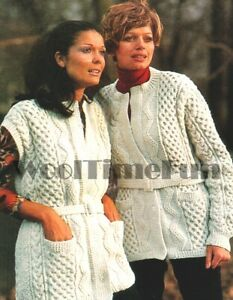 Knitting Pattern Lady's Classic Aran /Cable Jacket/Cardigan/Gillet.