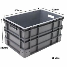 Very Strong Heavy Duty Type Stackable Plastic Euro Storage Boxes 16 Sizes 65 Litre