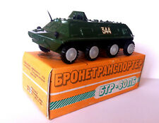 Vintage Russian USSR BTR-60PB Armored Personnel Carrier Tank Diecast 1/43 In Box