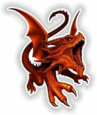 Red Dragon Art Autocollant Ordinateur Portable Livre réfrigérateur Guitare Moto Porte PC Bateau ATV # 01