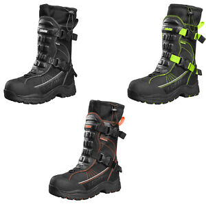 Mens Castle X Barrier 2 Snowmobile Boots Winter Snow Waterproof Riding Boots
