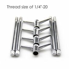 "Top ! 4x Steel & Chrome 1/4""-20 Valve Cover Wing Y Top Bolts 5/8"" long thread"
