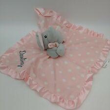SL Home Fashions Pink Polka Dot Elephant Blanket Lovey Grey Darling Satin
