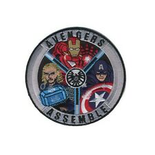 Captain America Avengers Assemble Badge Embroidered Patch Se or Iron-on 4""