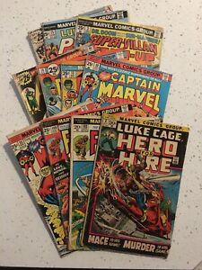 11 Comic Lot Fantastic Four 133 149 Captain Marvel 35 39 Luke Cage 3 Avengers +