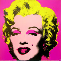 ANDY WARHOL Marilyn Monroe Pink Official Litho Print 38 x 38