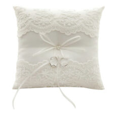 Bowknot Wedding Ring Pillow Cushion Bearer Engagement Party Decoration White UK