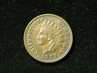 SUMMER SALE!!  AU 1883 INDIAN HEAD CENT PENNY w/ FULL LIBERTY & DIAMONDS #29s
