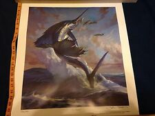 "John Carroll Doyle""Fan Dancer"" Sailfish signed/numbered print 1995 IGFA Florida"
