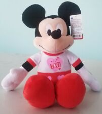 New listing Disney Mickey mouse plush toy with heart true love Just Play 19 inch