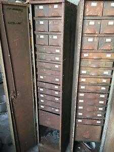Amazing Vintage Industrial Engineers Cabinet 17 Drawer And Segmented. 1 Of 2