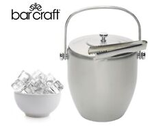 Default Barcraft Stainless Steel Ice Bucket With Lid & Tongs- Gift Boxed