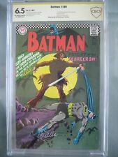 Batman #189 CBCS 6.5 (like CGC) ** Signed Joe Giella** 1st Silver Age Scarecrow