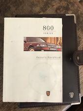 Rover 800 Vitesse Owners Handbook Binder 1996 (Wallet Manual)