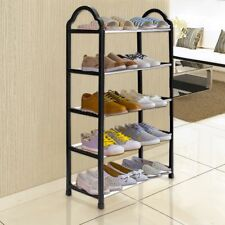 5 Tier Shoe Tower Rack Standiing Organizer Storage Cabinet Shelves Space Saving