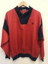 """Vintage Adidas Homme Rouge Pull-over Nylon Veste Col Taille 42-44"""""""
