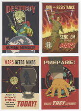 2013 Topps MARS ATTACKS INVASION Join The Fight Propaganda Poster 4 Card Set