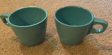 2 Vintage Boonton Ware Blue Cups Mugs Melamine Melmac 201-8