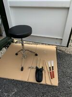 Free P&P. Pearl Drum Stool Throne Seat Stall for Kit w Brushes Sticks. ST007242