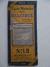 c.1920s Carte Michelin Belgique No. 1.B Belgium Map Michelin Man Vintage ORIG.