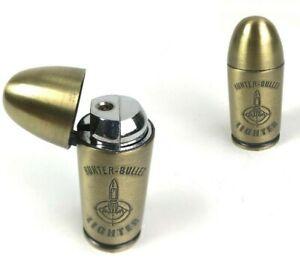 2 Sturm Feuerzeuge Patrone Hunter Bullet Lighter Gas Messing Militär Kugel