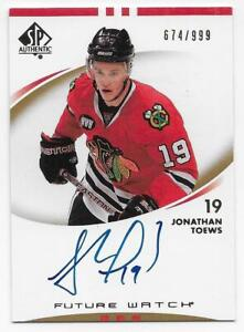 07/08 SP AUTHENTIC FUTURE WATCH AUTOGRAPH RC #203 Jonathan Toews #674/999