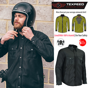 Motorbike Motorcycle Denim Shirt CE Biker Armour Made With Aramid Protection