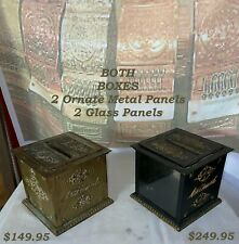 Old/Original Ornate Nat'l Cash Register Locking Receipt / Ticket Box w/Key