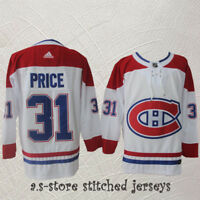 Montreal Canadiens White Hockey Jersey Men Sewn #31 Canadiens Carey Price M-3XL