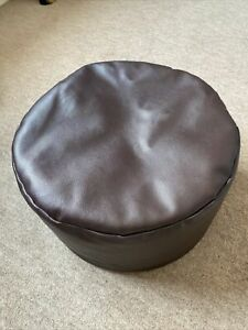 Brown Pvc Beanbag Footstool Measuring 35x35x20cm Pouffe