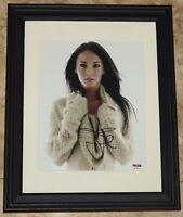 STUNNING! Megan Fox Signed Autographed Framed 8x10 Photo PSA COA! FLASH SALE!