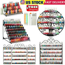 Nail Polish Display Rack Holder Storage Organizer Metal Shelf Wall Mounted USA