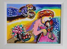 Zamy Steynovitz Original Embellished Serigraph on Canvas -Serenade -Signed