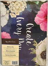 Recollections CREATE EVERY DAY KEEPSAKE Storage Shoe Photo MEMORY BOX Floral HTF