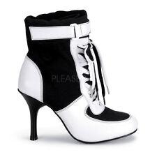 PLEASER FUNTASMA Referee-125 Black/White Sports Fancy Dress Ankle Boots