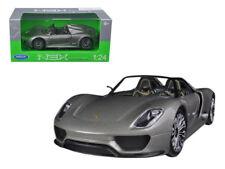 Porsche 918 Spyder Grey Open Roof 1:24 Diecast Model Car by Welly 24031gry