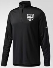 ADIDAS NHL Los Angeles Kings Authentic Pro 1/4 Zip Black Pullover Jacket Men M