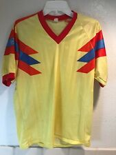Vintage 80's 90's Adidas Olympic Games Cycling or Soccer Jersey Jaen 38 Yellow