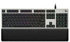 Logitech G513 Lightsync RGB Mechanical Gaming Keyboard Silver, Tactile Romer G