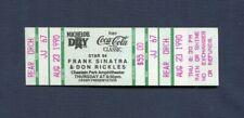"1990 Frank Sinatra Don Rickles Full Concert Ticket Chastain Park ""Ol"" Blue Eyes"