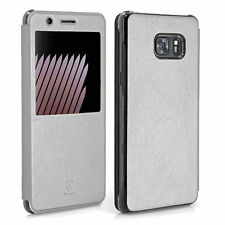 BASEUS Schutzhülle Flip Case Handy hülle für Samsung Galaxy Note 7 - silber