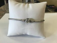 Authentic PANDORA Sterling Silver Crown Charm Bracelet